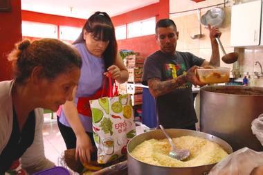 The Gargantitas dining room ensures dinner for 900 people per day