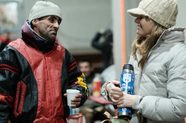 The Red Solidaria organization and the River Plate Club organized a day of help for people in street situations