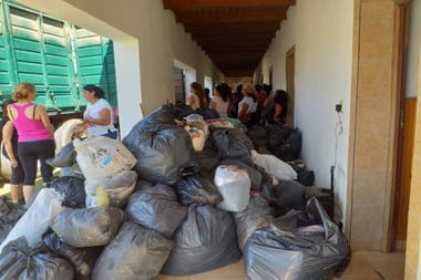 Some of the donations carried by Eduardo and his friends