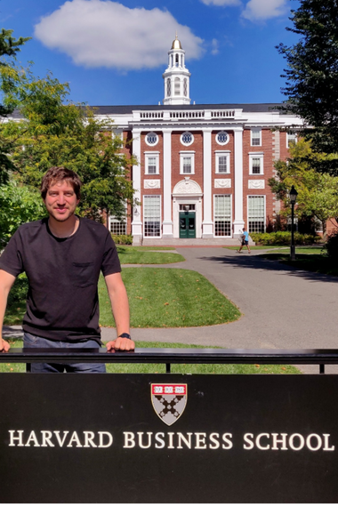 Tomas, 28, is an industrial engineer and one of the five Argentines who are doing MBA at Harvard