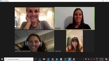The Sixty team: Victoria Corti, Paz Porrez, Agustina Recalde and Valeria Viva, during one of their virtual meetings