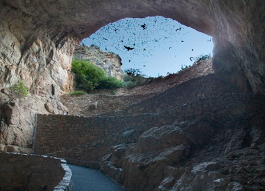 Lechuguilla cave entrance, considered the fifth largest in the world (Michael Patane - Google)