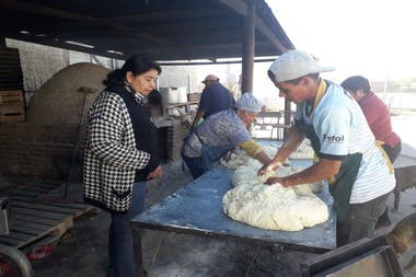 Bread is kneaded at the Foundation headquarters, among other activities