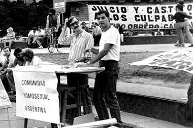 Junto a Carlos Jáuregui, en una foto de archivo de la CHA, donde Cigliutti militó desde principios de los 90