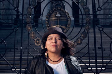 """""""We are bearers of an indigenous ancestry that is rejected,"""" says Sandra Condori Mamani, who came from Bolivia as a child."""