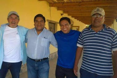 Jorge Gronda along with part of the Original Villages team: René Calpanchay, Balbin Aguaysol and Clemente Flores