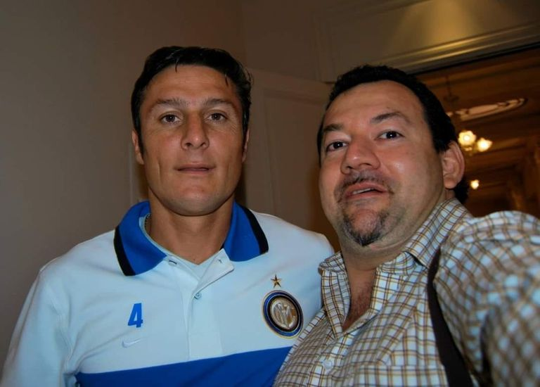 Javier Zanetti, another of the famous diners for whom Bragagnolo cooked