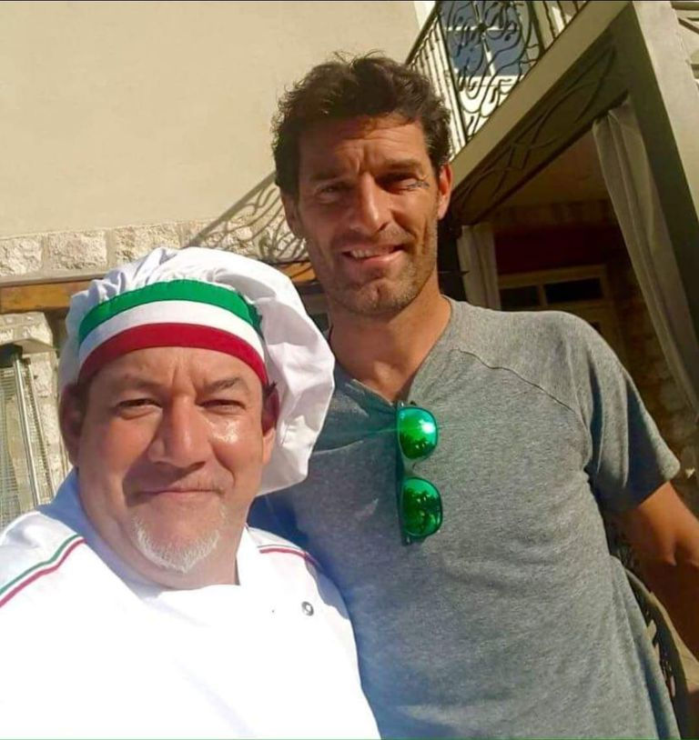 The day that the Australian ex-Formula 1 driver Mark Webber sat at the table of the restaurant where Bragagnolo cooked