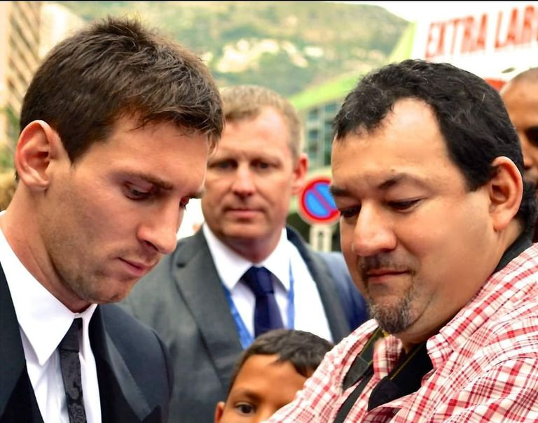 Raúl Bragagnolo cooked him Lionel Messi chard crepe with Bechamel sauce