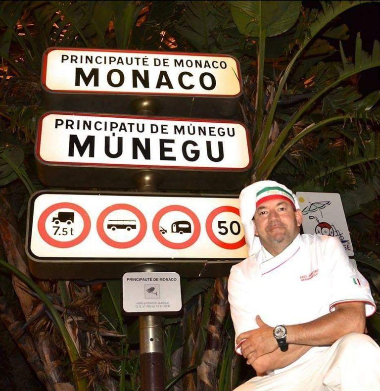 Raúl Geneyro Bragagnolo, Argentine chef who cooks for celebrities in a Monaco restaurant