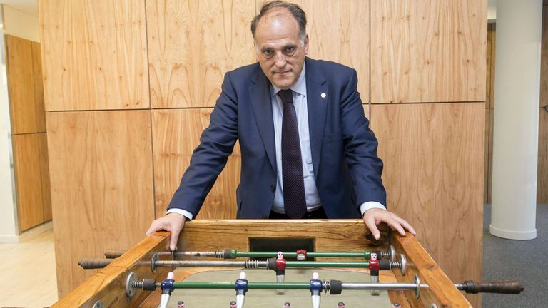 Javier Tebas and his view on the Argentine Super League