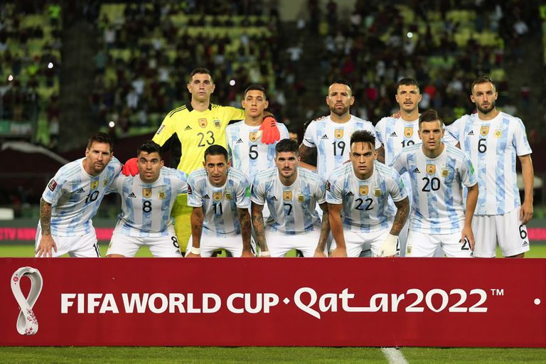 The titular formation of Argentina that faced Venezuela this Thursday.